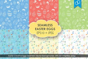Abstract Easter Eggs Seamless EPS10