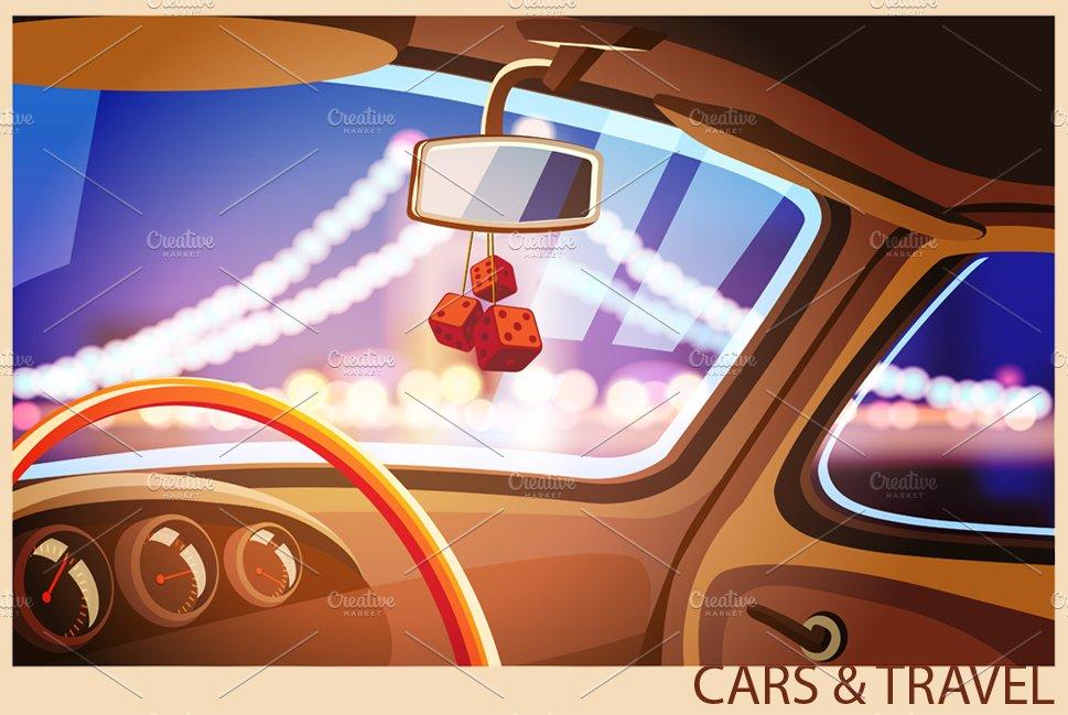 Vehicle Interior Set Illustrations Creative Market