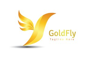 GoldFly Logo Template