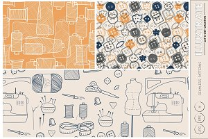 Sewing Pattern - Seamless Vector