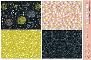 Space Seamless Vector Patterns