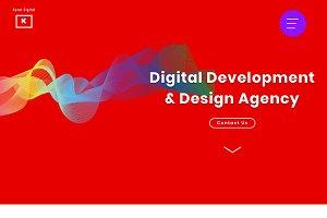 Digital Agency Sketch Landing Page
