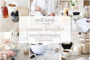 Oatmeal Breakfast Stock Photo Bundle