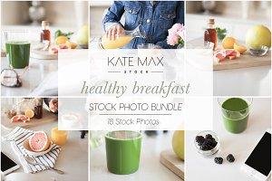 Healthy Breakfast Stock Photo Bundle
