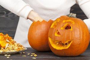 pumpkin to celebrate Halloween