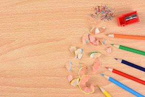 Colored Pencils and Shavings