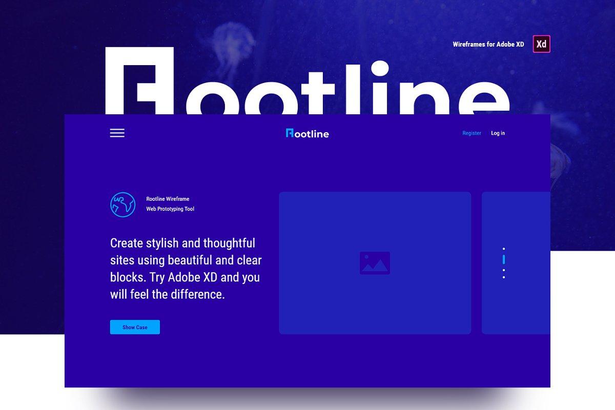 Rootline Wireframe UI Kit ~ Wireframe Kits ~ Creative Market