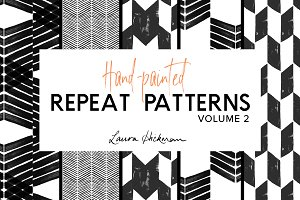 5 Handpainted Geometric Patterns
