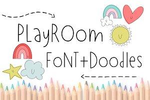 Playroom Font + Doodles