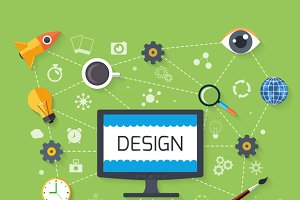 Web Design and Development Concept
