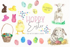 Easter Watercolor Clipart Spring