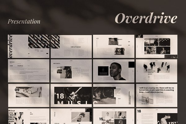 Presentation Templates: Visuel Colonie® - Overdrive Powerpoint