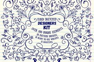 Hand Sketched Floral Designers Kit