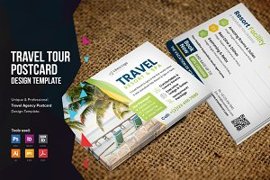 Holiday Travel Postcard Design v2