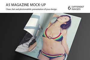 Opened Magazine Mock up