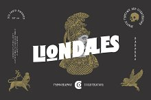Liondales & Extras by  in Display Fonts