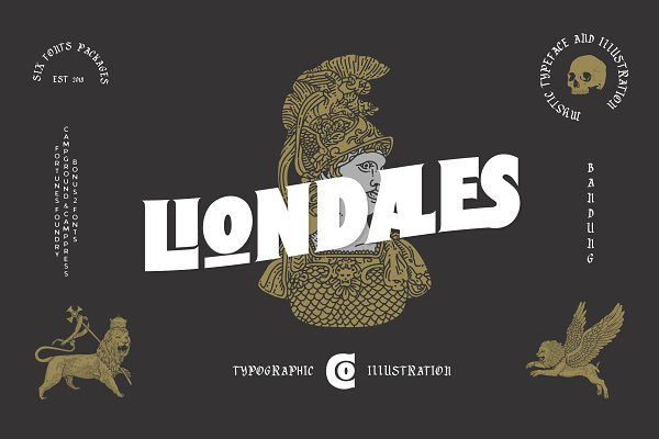 Display Fonts: Fortunes Co - Liondales & Extras
