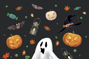 Compilation of a Halloween symbols