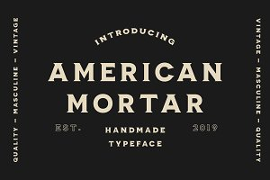 American Mortar -Vintage Font Family
