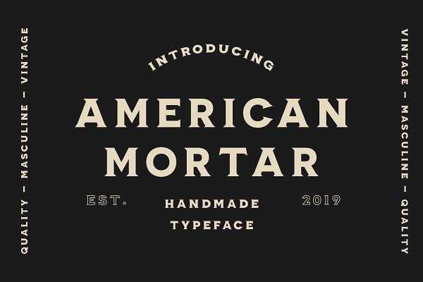 Display Fonts: The Routine Creative - American Mortar -Vintage Font Family