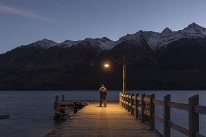 Jetty in Glenorchy, New Zealand