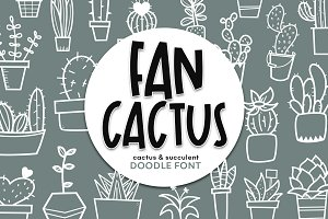 Fancactus - A Fun Doodle Font