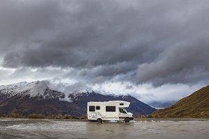 Camper Van / RV on the Crown Range