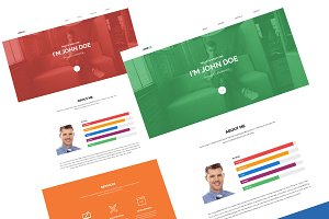 Oneux One Page Portfolio Template