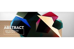 Triangular 3d geometric shapes