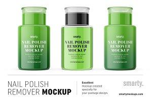 Nail polish remover mockups