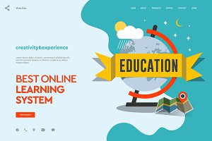 Education Web page design