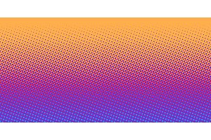 orange blue gradient halftone