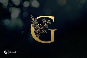 Gold G Letter Logo