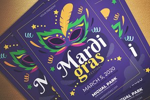 Mardi Gras Fest Flyer