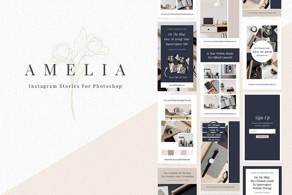 Social Media Templates: fallongerst - Amelia - Instagram Story Templates