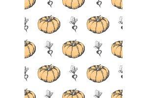 Ripe Pumpkin and Monochrome Beet