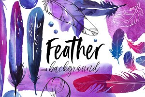 Feathers and backgrounds
