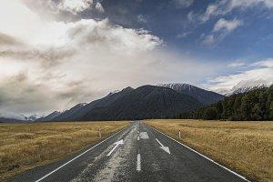 Lane Arrows on Highway