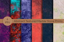 Abstract Textured Marble Stone Set