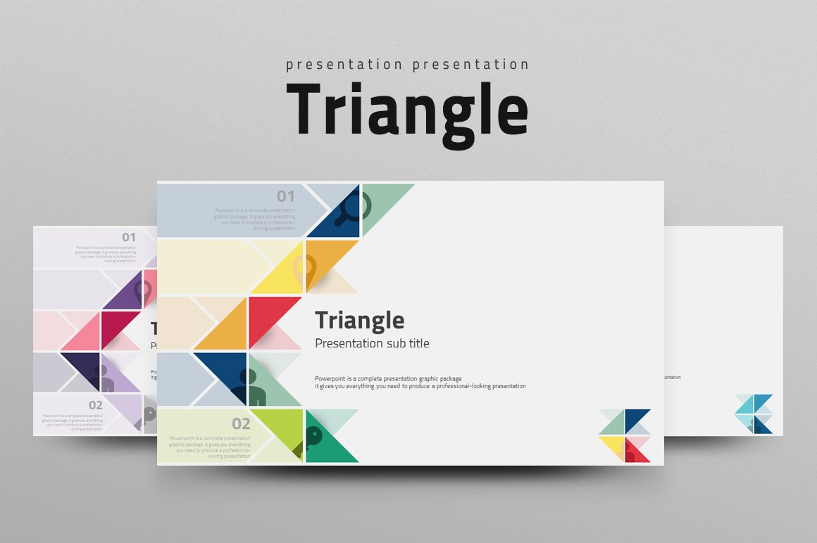 Triangle Presentation Templates Creative Market