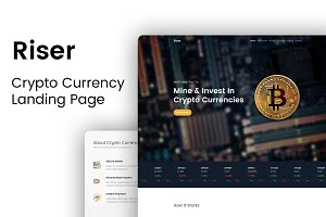 Riser - Crypto Currency Landing Page