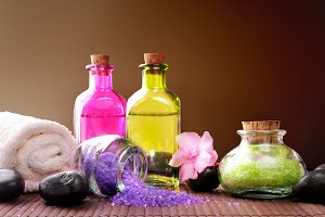 Bath salts and body oil