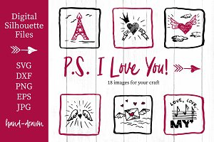 Lovely valentines day set - #5 SVG