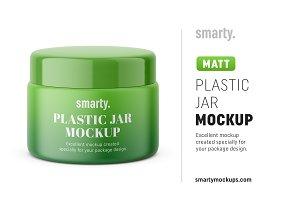 Plastic jar mockup / matt