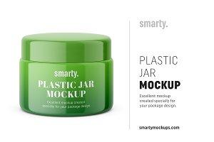 Plastic jar mockup / glossy