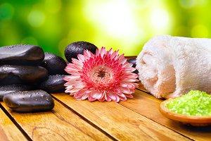 Salt and essences for body care bath