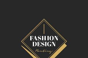 Illustration of boutique shop logo