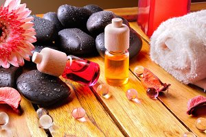 Containers and oil balls body care