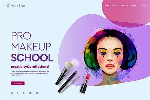 Makeup School Web page Design