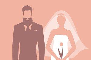Wedding couple silhouette - IV